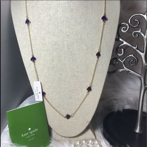 Kate Spade purple and gold Spade long necklace